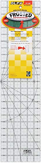 "Olfa Frosted Advantage 6"" x 24"" Quilting Ruler - The Essential"