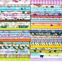 "Misscrafts 50pcs 8"" x 8"" (20cm x 20cm) Top Cotton Craft Fabric Bundle Squares Patchwork DIY Sewing Scrapbooking Quilting Dot Pattern"