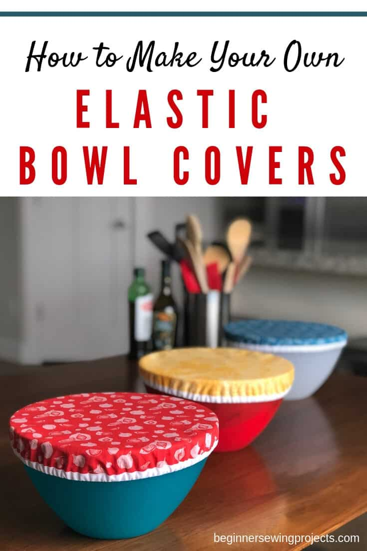 Reusable bowl covers are really simple to make and come in so handy! I hate fighting with plastic wrap. Just snap these over a bowl to keep food fresh. Then wash and repeat. They're easy to sew too!