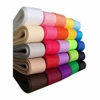 "Kailin 3/4"" Solid Grosgrain Ribbon Set 50 Yards (25x2yd) 25 Colors Multicolour"
