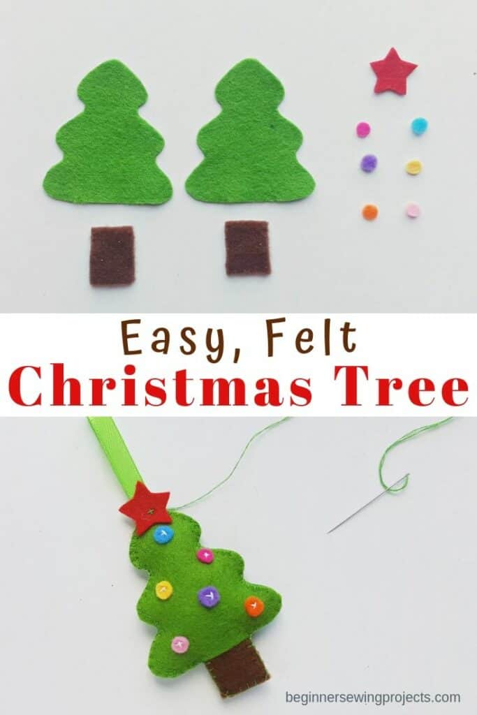 Easy Felt Christmas Tree Ornament