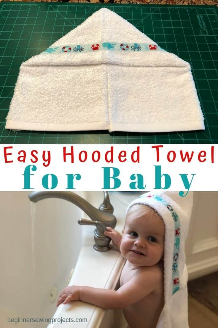 Sew a hooded towel for baby the easy way.