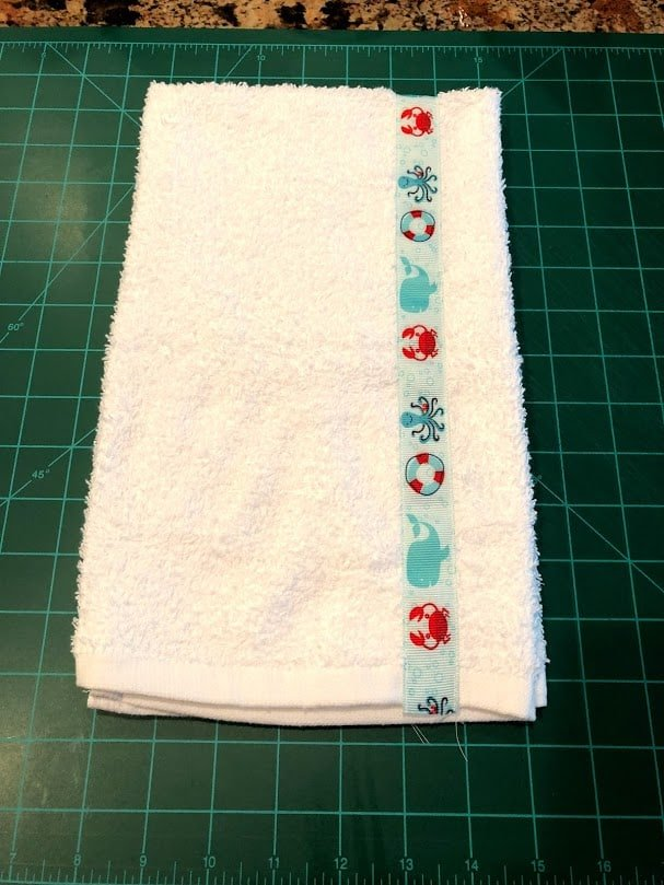 Towel with Ribbon