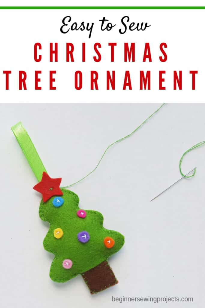 Easy to Sew Felt Christmas Tree Ornament