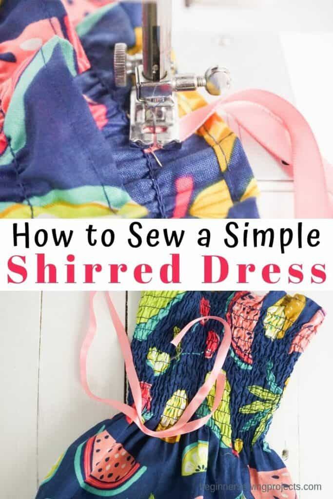 How to Make a Simple Shirred Dress for Girls