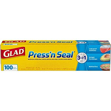 Glad Press'n Seal Plastic Food Wrap - 100 Square Foot Roll - 3 Pack