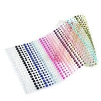 DECORA 1080pcs Multicolor Half Round Pearls Stickers in 15 Colors & 3 Sizes Self-Adhesive Faux Pearl Embellishment Stickers for Nail Art Makeup Scrapbooking and Crafts 3mm 4mm 5mm