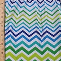 Pre-Smocked Sundress Fabric Lightweight Mini Terry Knit Chevron Zigzag Stripe Shirred Fabric by The Yard (1302-9780)