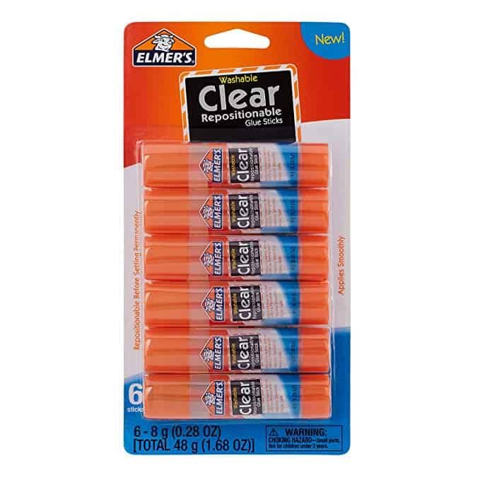 Elmer's Clear Glue Stick (E4061), 6 count