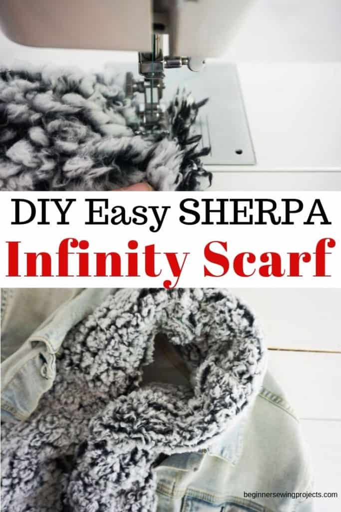 Easy DIY Sherpa Infinity Scarf