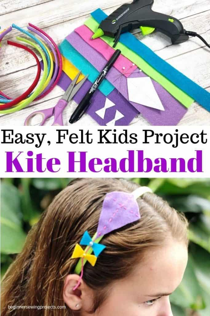 Easy Felt Kids Kite Headband