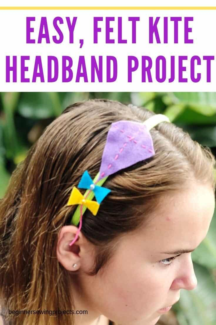 Felt Kite Headband for Kids - How cute! The perfect rainy day project. #kidcrafts