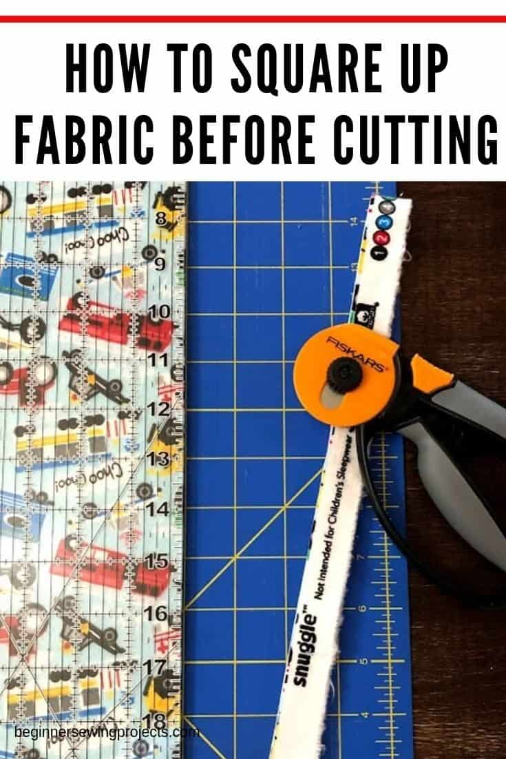 The easiest way to square up fabric so it is ready for any sewing project. I love this tutorial! #sewingtips