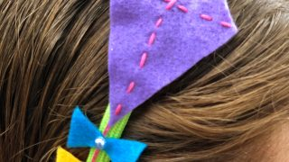 Felt Kite Headband for Kids Sewing Project