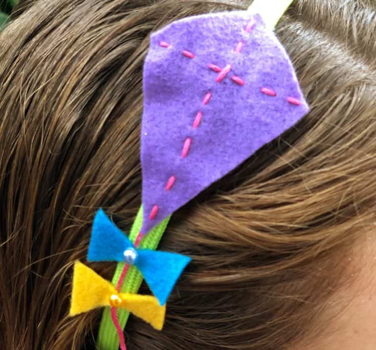 Felt Kite Headband for Kids Sewing Project