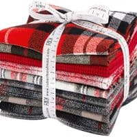Mammoth Flannel Red 10 Fat Quarters Robert Kaufman Fabrics FQ-1451-10
