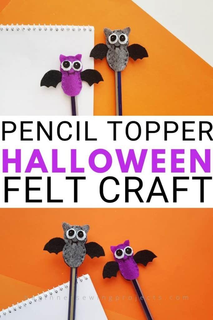 Bat Pencil Topper Halloween Craft