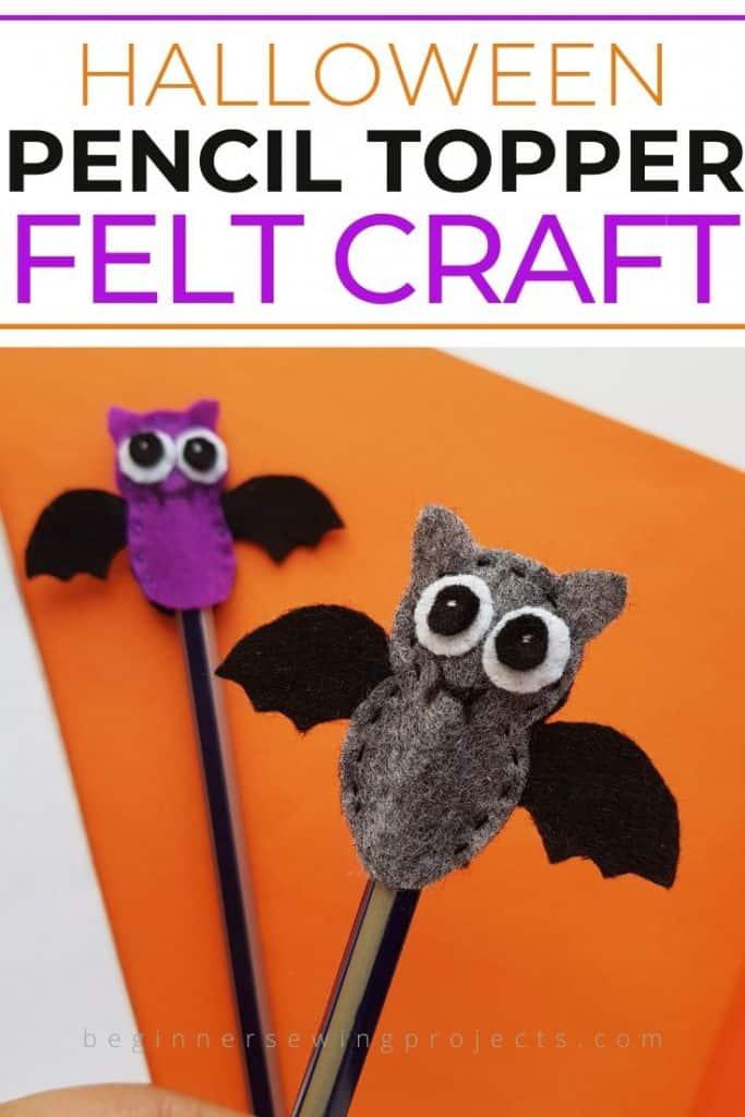 Bat Pencil Topper Halloween Kids Craft