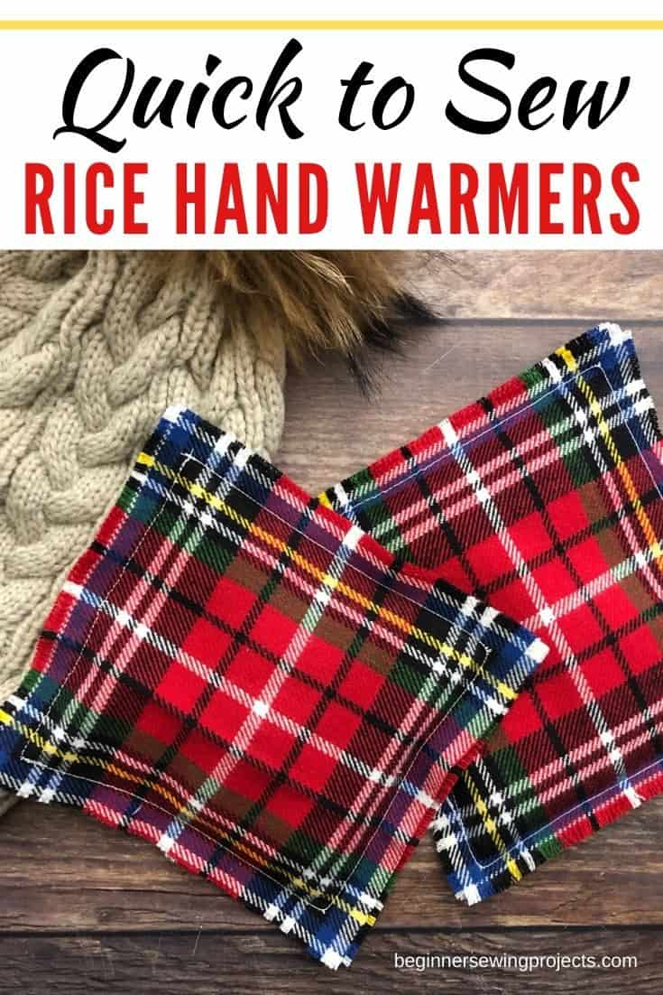 Sew rice hand warmers for holiday gifts this season. Your friends and family will appreciate the useful items, and they are super easy to sew. #sewingproject