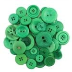 Buttons Galore Hand Dyed Buttons, 5.5-Ounce, Forest Green