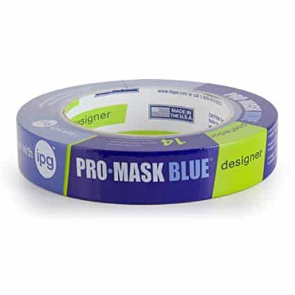 "IPG PMD24 ProMask Designer 14-Day Painter's Tape, 0.94"", Blue, (Single Roll)"