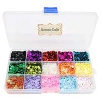 5mm Mix 15 Colors Rainbow Cup Sequin for Wedding Decoration (1box/lot)