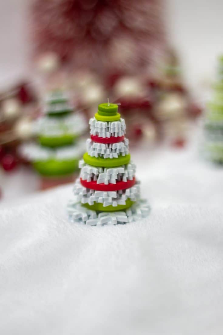 Button Christmas Tree Ornament Craft