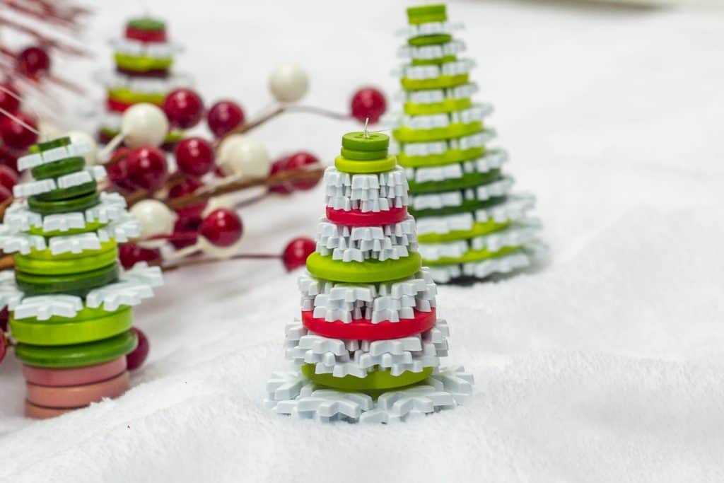 Button Christmas Tree Ornament 8
