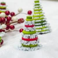 Cute as a Button Christmas Tree Ornaments Craft