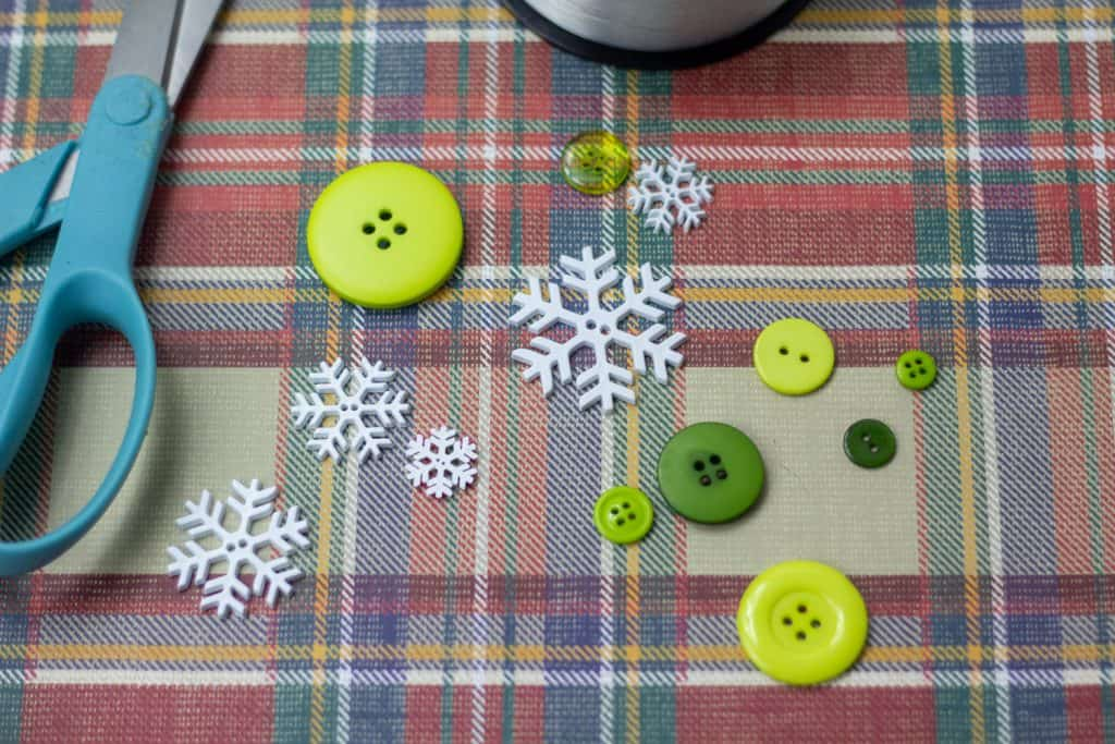 Button Christmas Tree Ornament Supplies 2