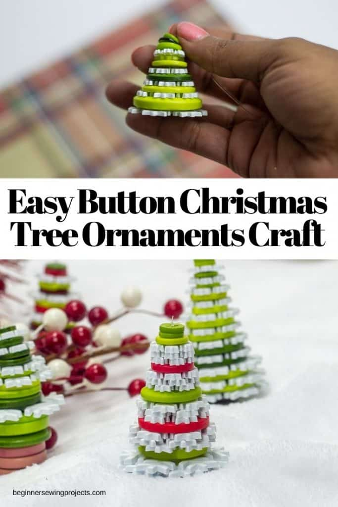 Christmas Tree Button Ornament Craft