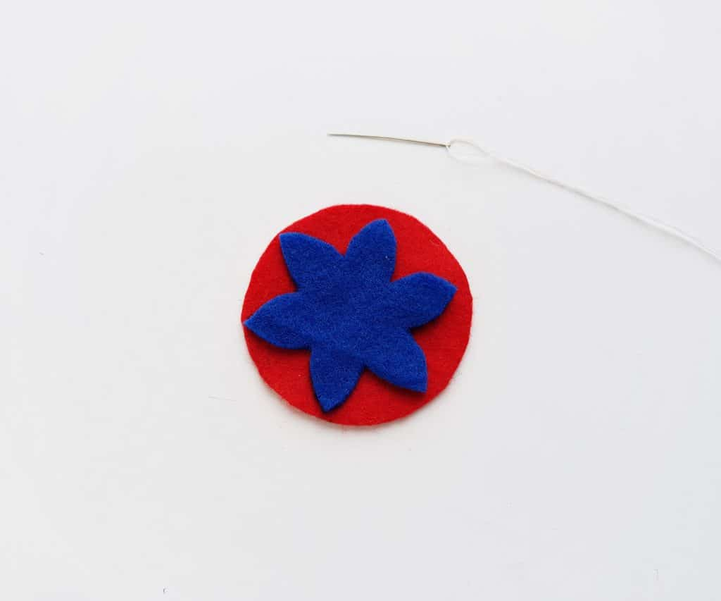 Felt Christmas Ornament Step 2