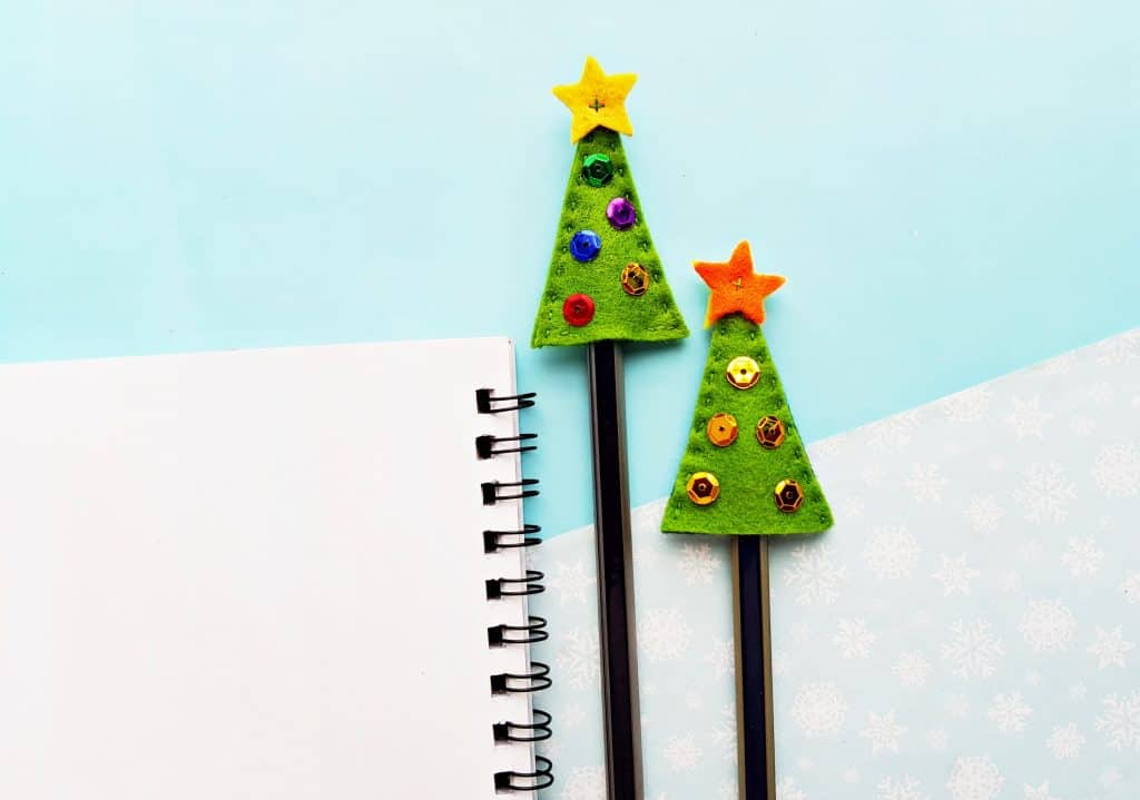 Felt Christmas Tree Pencil Topper 10