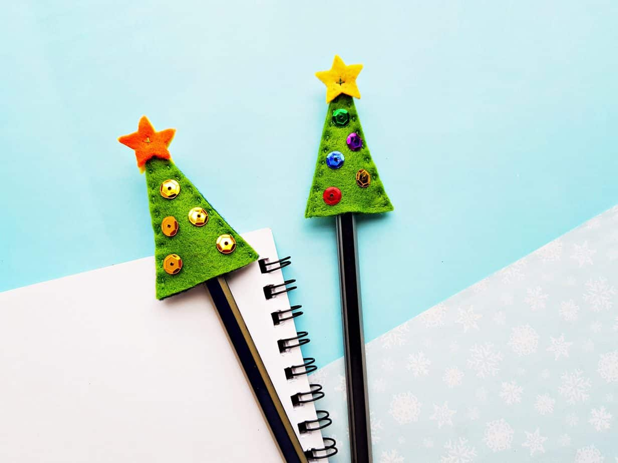 Felt Christmas Tree Pencil Topper 7