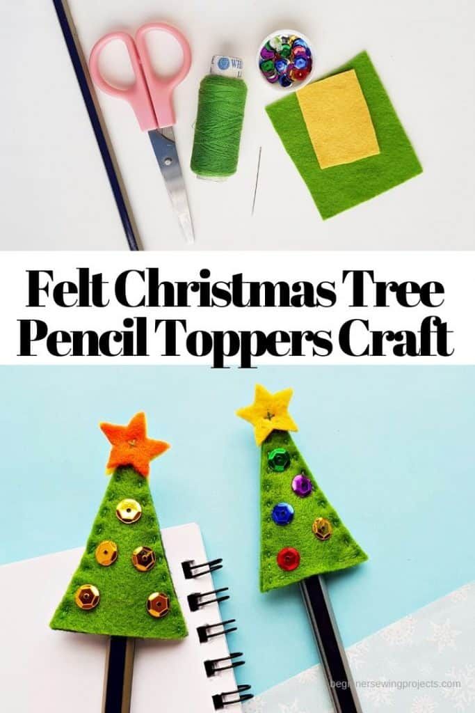Felt Christmas Tree Pencil Topper Craft