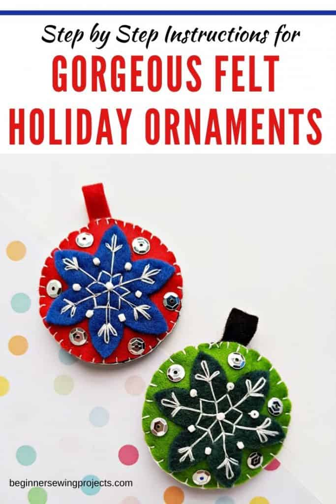 Felt Holiday Ornament DIY