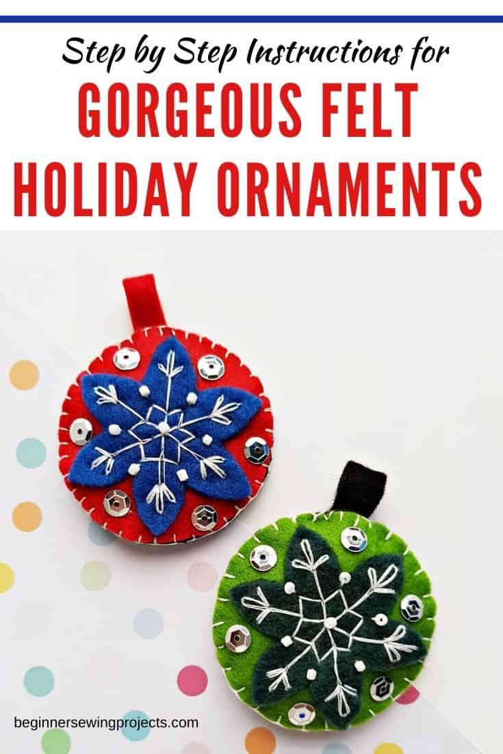 These felt ornaments really are gorgeous, but they only cost pennies! I want to make a whole tree full of them. #feltcrafts #christmas
