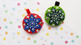 Gorgeous Felt Ornaments DIY for the Holidays