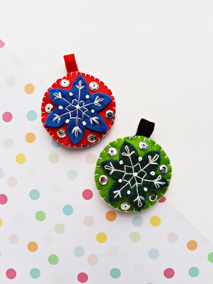 Felt Ornaments DIY for the Holidays