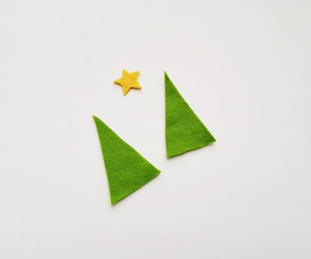 Felt Pencil Toppers Christmas Tree Step 1