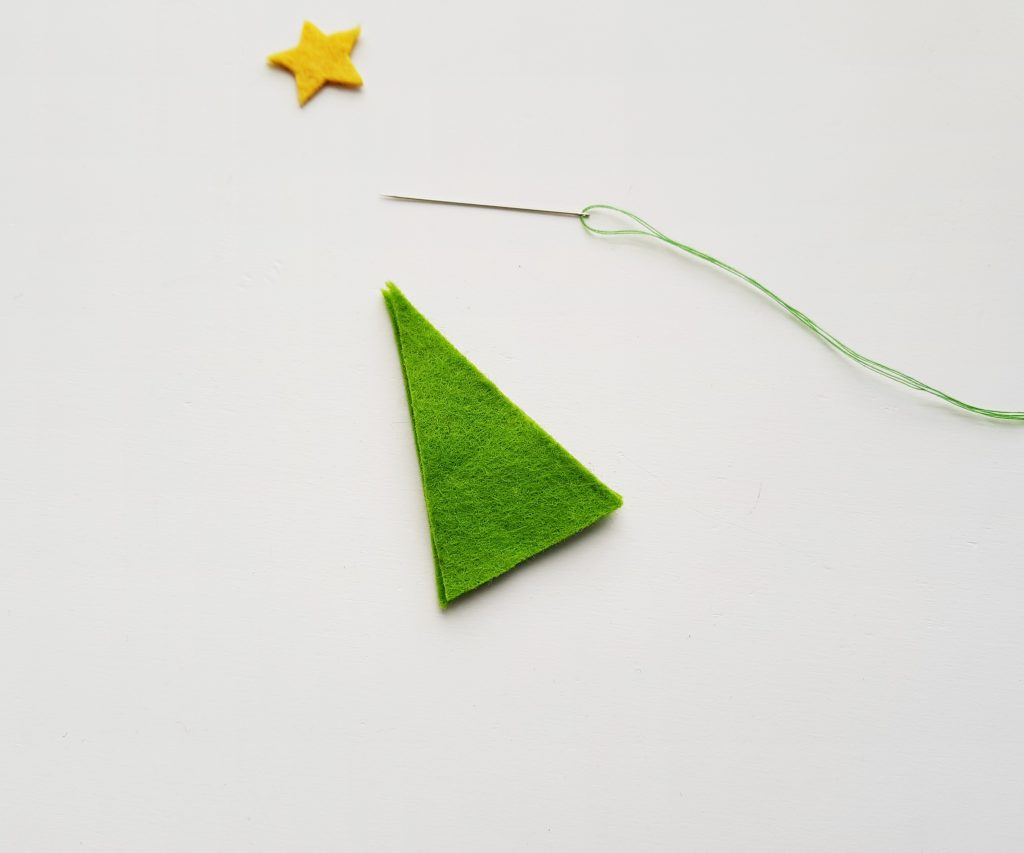 Felt Pencil Toppers Christmas Tree Step 2