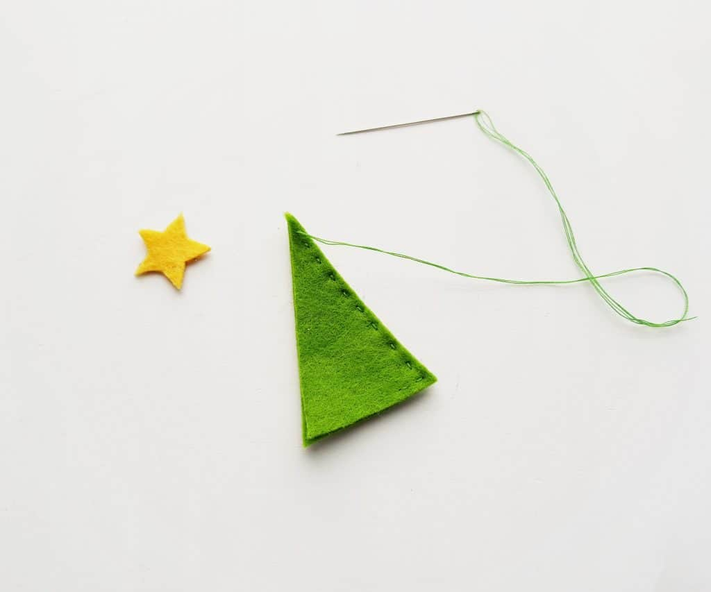 Felt Pencil Toppers Christmas Tree Step 4