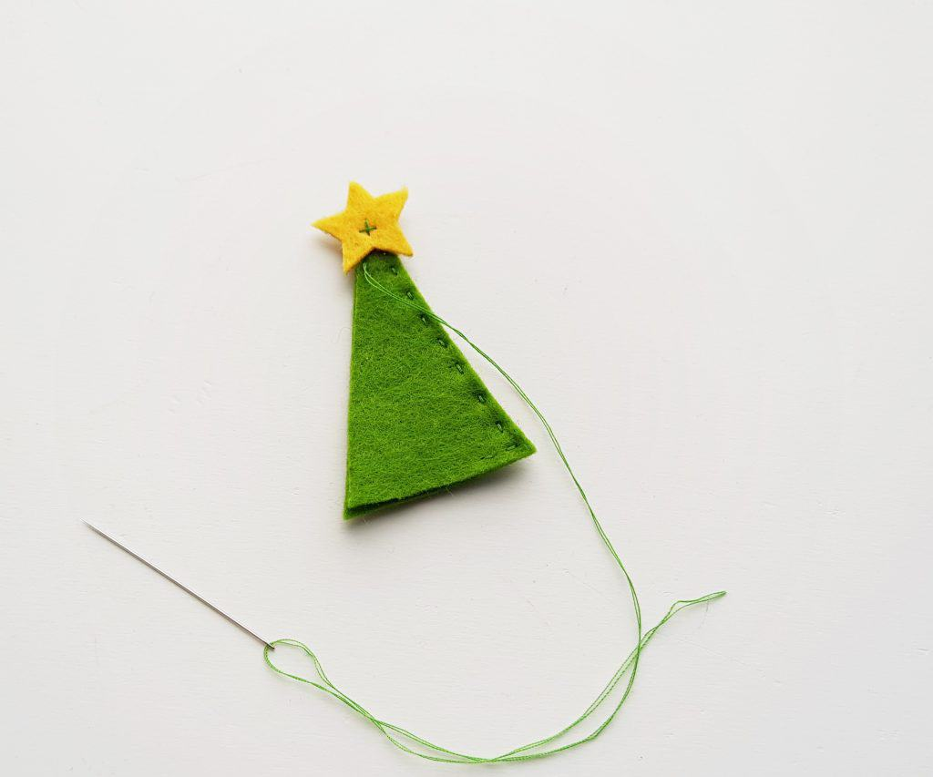 Felt Pencil Toppers Christmas Tree Step 5