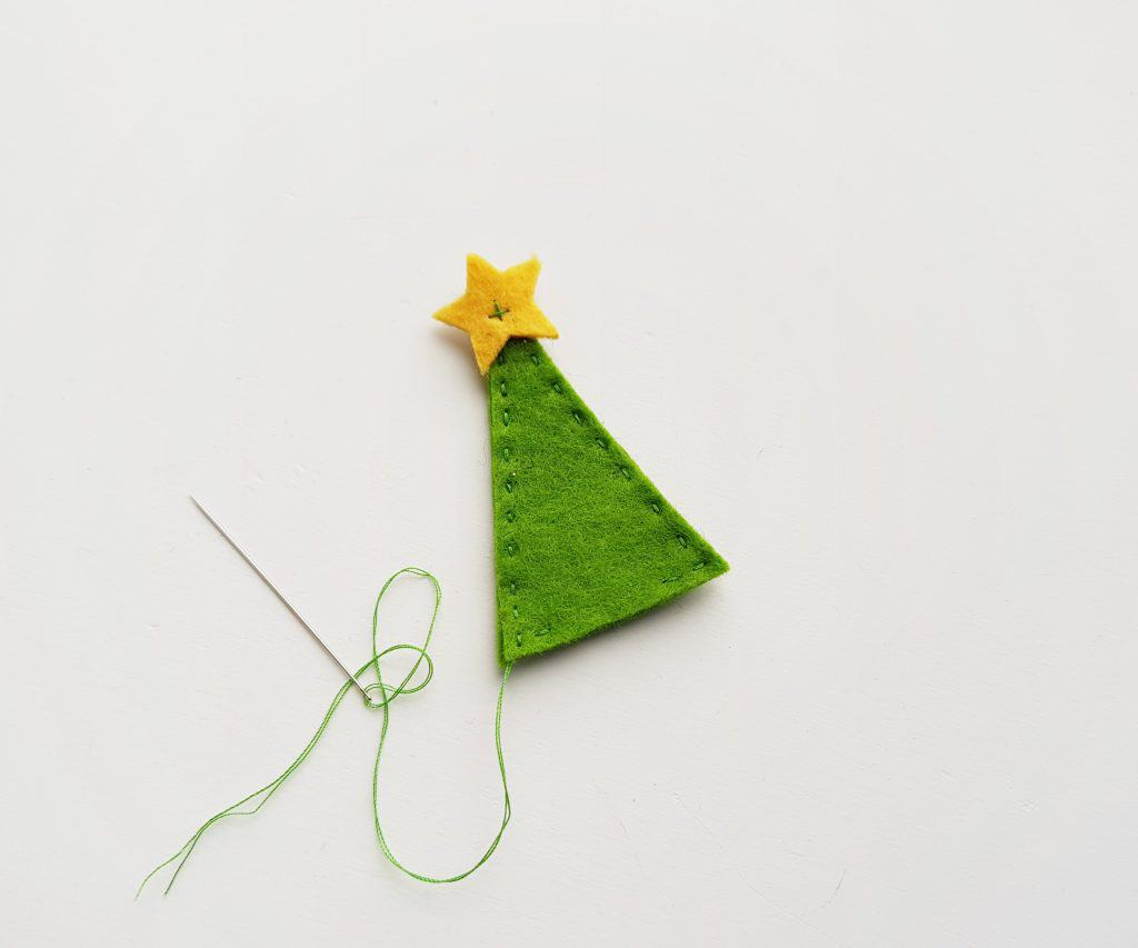 Felt Pencil Toppers Christmas Tree Step 6