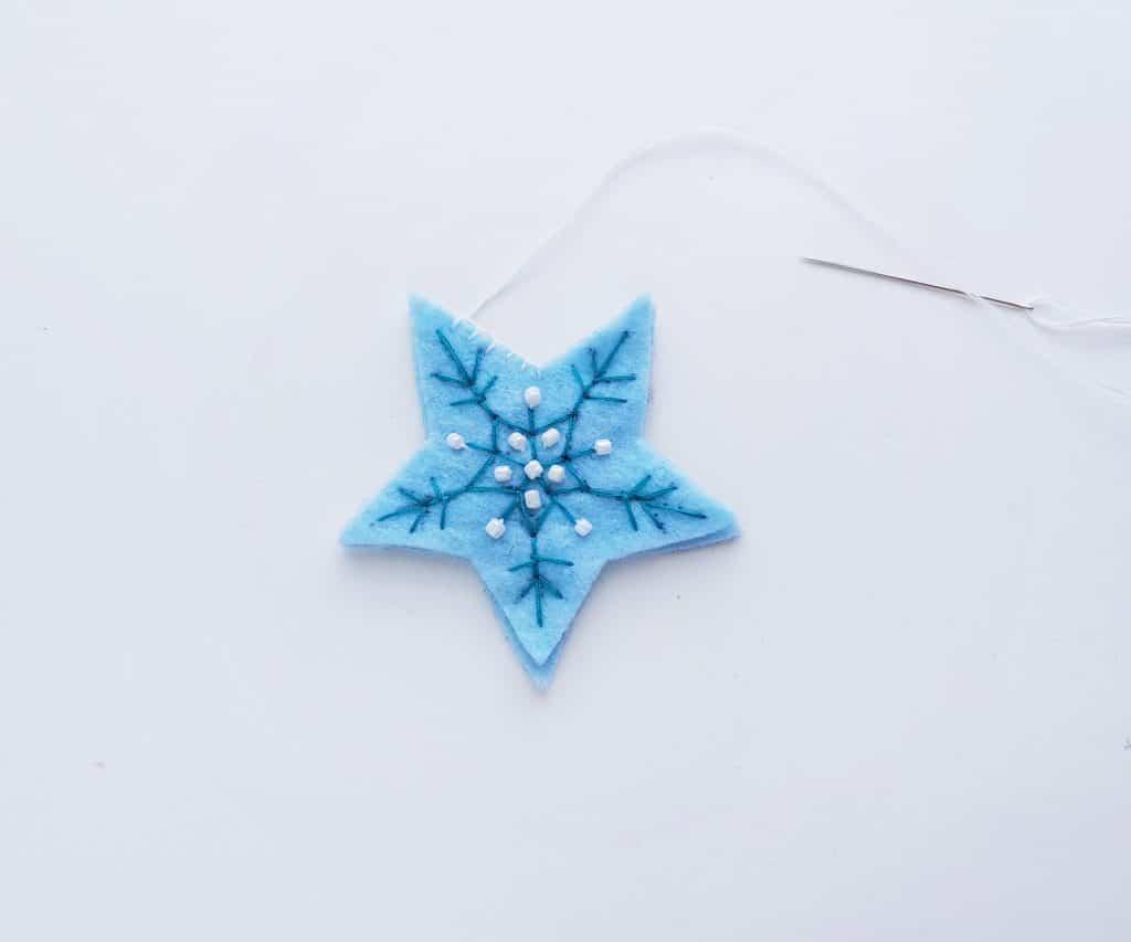 Felt Star Christmas Ornament Step 6