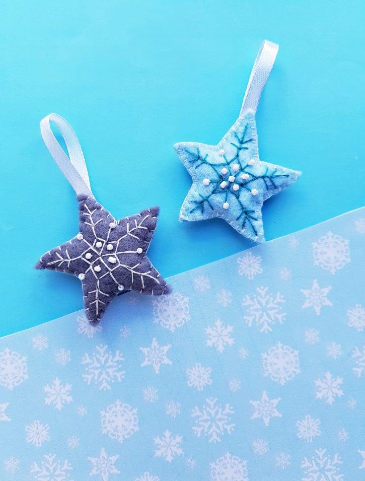 Handmade Felt Star Christmas Ornament
