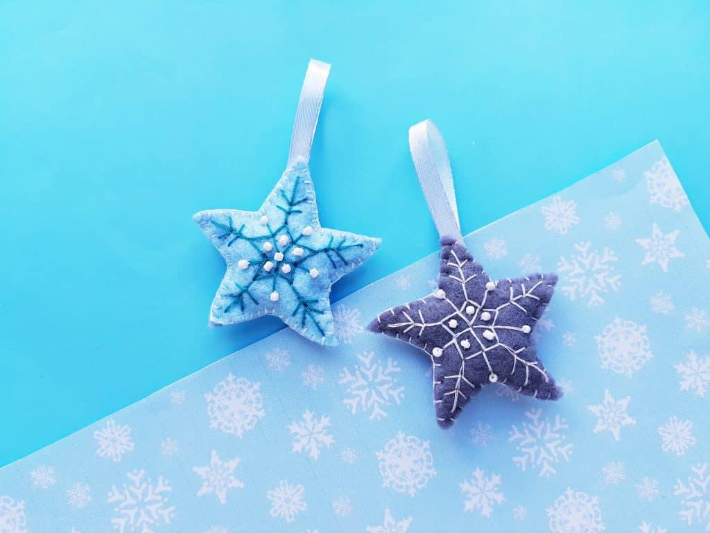 Felt Star Christmas Ornaments