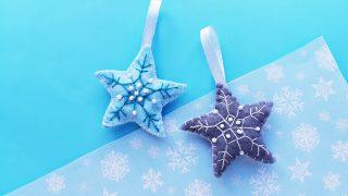 Handmade Felt Star Christmas Ornaments