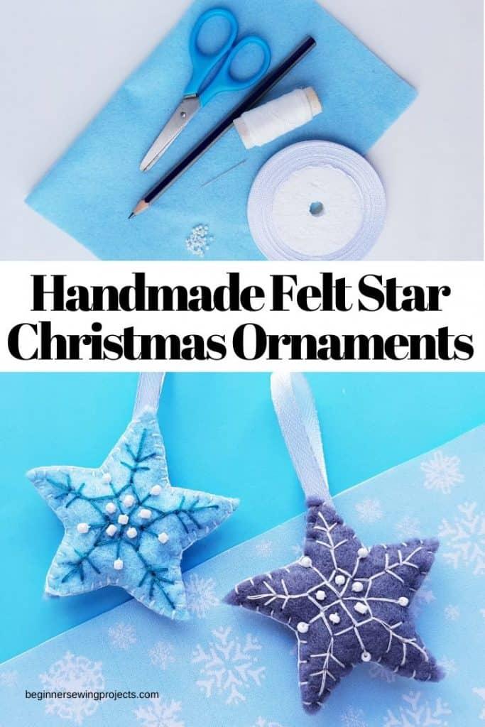 Handmade Felt Star Christmas Ornaments Craft