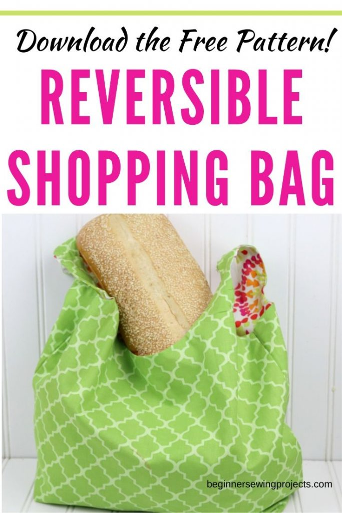 Reversible Shopping Bag DIY with Free Pattern